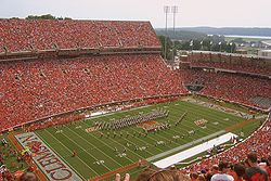 Frank Howard Field Clemson Memorial Stadium