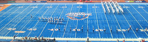 Bronco Stadium Blue Turf